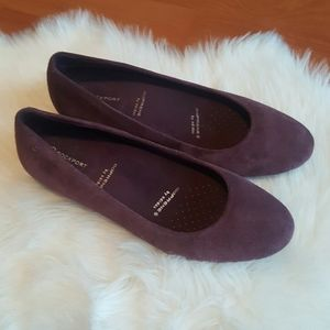 Adiprene by Adidas Rockport plum slip on shoes 8M
